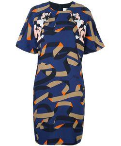 MSGM | Платье Шифт С Узором В Виде Кошек
