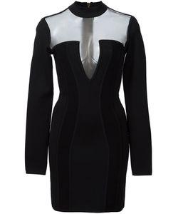 Balmain | Мини-Платье С Прозрачными Вставками