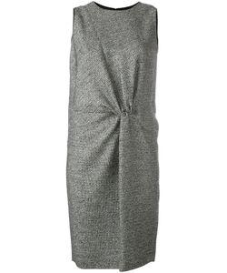 Maison Margiela   Твидовое Платье С Присборенной Отделкой