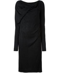 Maison Margiela | Драпированное Платье С Вырезом-Лодочкой