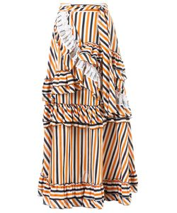 Isabela Capeto | Stripe Ruffled Skirt