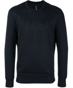 Neil Barrett | Embossed Lightning Bolt Sweatshirt