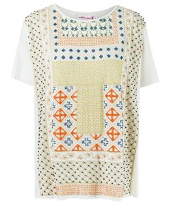 Isabela Capeto | Print Embroidered Blouse