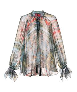 Roberto Cavalli | Блузка На Завязках С Рисунком