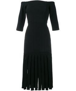 Tata Naka | Платье С Открытыми Плечами И Бахромой