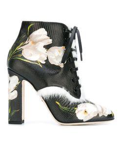 Dolce & Gabbana | Ботинки С Принтом Тюльпанов
