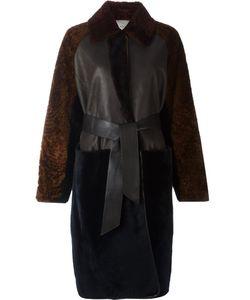 Lanvin | Длинное Пальто С Поясом И Панельным Дизайном