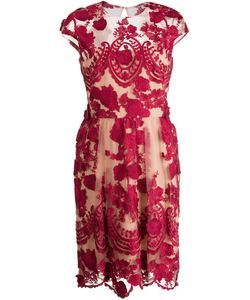 Marchesa Notte | Платье С Цветочной Вышивкой