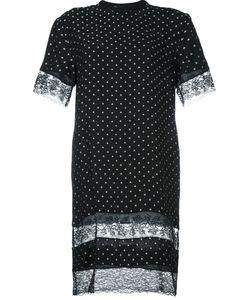 Givenchy | Платье-Футболка С Кружевными Панелями