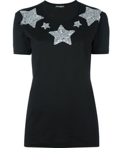 Dolce & Gabbana | Футболка С Аппликацией Звезд Из Пайеток