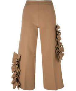 MSGM | Ruffle Detail Cropped Trousers