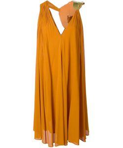 Jay Ahr | Платье С Золотистой Вставкой
