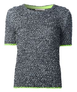 Christopher Kane | Tweed Short Sleeve Sweater