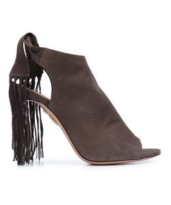 Aquazzura | Fringe Tie Sandals