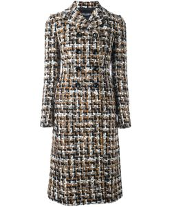 Dolce & Gabbana | Твидовое Пальто Миди