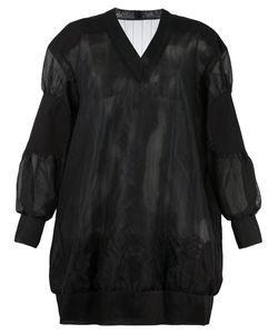 Sacai | Полупрозрачное Платье-Толстовка