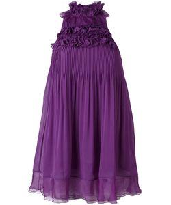 GIAMBA | Плиссированное Платье С Рюшами