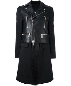 Dsquared2 | Пальто С Деталью В Виде Байкерской Куртки
