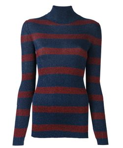 Cedric Charlier | Striped Roll Neck Pullover
