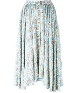 Olympia Le-Tan | Printed Full Skirt