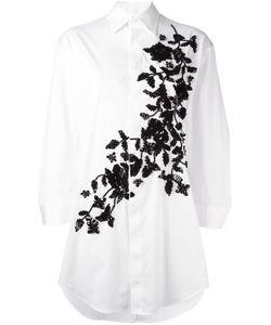 Dsquared2 | Объемная Рубашка С Цветочной Вышивкой