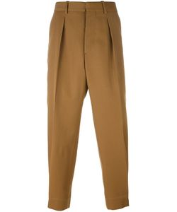 Marni | Front Pleat Tapered Trousers