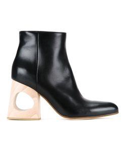 Marni | Ботинки На Контрастном Каблуке