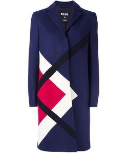 MSGM | Пальто С Контрастным Геометрическим Принтом