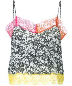 DRESS CAMP | Топ С Контрастной Кружевной Окантовкой