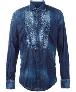 Dsquared2 | Джинсовая Рубашка С Рваными Деталями