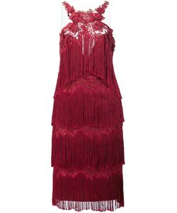 Marchesa Notte | Fringed Dress