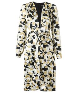 ANDREA MARQUES   V-Neck Printed Dress