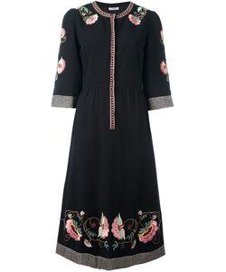 VILSHENKO | Платье С Цветочной Вышивкой