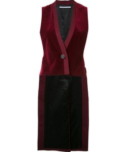 ROSETTA GETTY | Velour Style Long Waistcoat