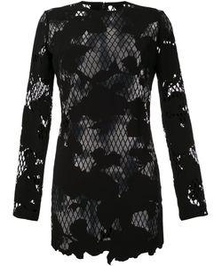 Anthony Vaccarello | Полупрозрачное Платье С Цветочным Рисунком