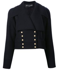 Balmain | Cropped Bottom Fastening Peacoat