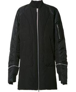 BYUNGMUN SEO | Zipped Long Bomber Jacket