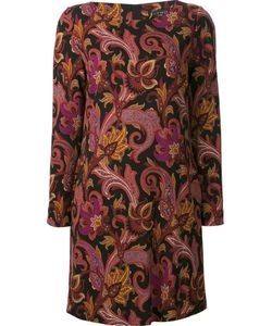 Etro | Платье-Шифт С Цветочным Принтом