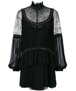 Elie Saab | Платье С Кружевными Вставками И Заклепками-Сердцами