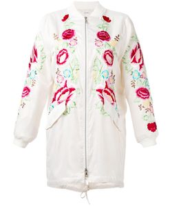 P.A.R.O.S.H. | Embroide Zip-Up Coat Medium Polyester