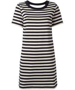 Moncler | Striped Open Back Dress Medium Cotton/Polyamide
