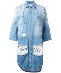 Gaëlle Bonheur | Gaelle Bonheur Distressed Denim Dress Size 40