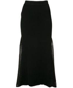 Derek Lam | Mesh-Panelled Ribbed-Knit Skirt