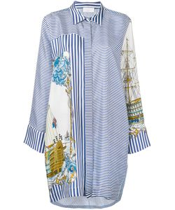 P.A.R.O.S.H. | P.A.R.O.S.H. Ship Print Shirt Dress