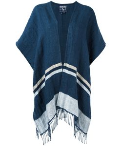 Woolrich | Fringed Poncho Linen/Flax