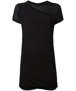 RICK OWENS DRKSHDW | Gathered Short-Sleeved Top Size Small