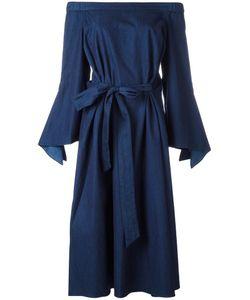 Tibi | Off-The-Shoulder Long Dress 6 Cotton