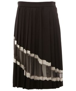 Maison Margiela | Sheer Panel Pleated Skirt