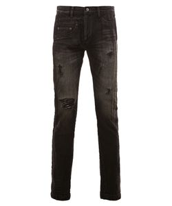 Maison Mihara Yasuhiro   Distressed Stonewash Skinny Jeans