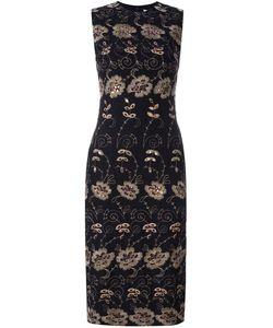Givenchy | Платье-Шифт С Цветочной Вышивкой